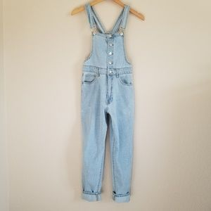 Forever 21 Light Wash Overalls Size 24